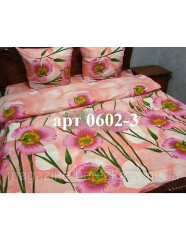 Евро-комплект постельного белья из бязи, Арт. 0602-3