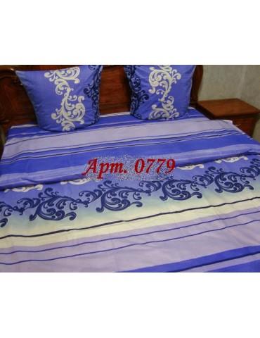 Евро-комплект постельного белья из бязи, Арт. 0779