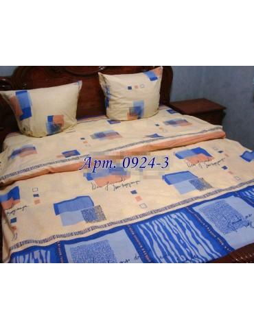 Евро-комплект постельного белья из бязи, Арт. 0924-3
