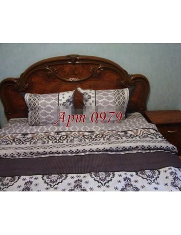 Евро-комплект постельного белья из бязи, Арт. 0979