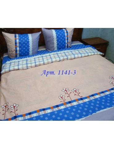 Евро-комплект постельного белья из бязи, Арт. 1141-3