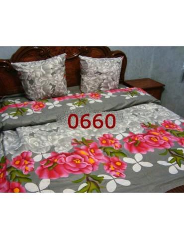 Евро-комплект постельного белья из бязи, Арт. 0660