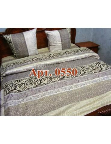 Евро-комплект постельного белья из бязи, Арт. 0550