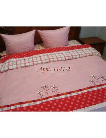 Евро-комплект постельного белья из бязи, Арт. 1141-2