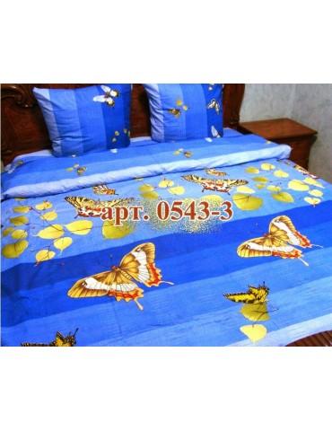 Евро-комплект постельного белья из бязи, Арт. 0543-3
