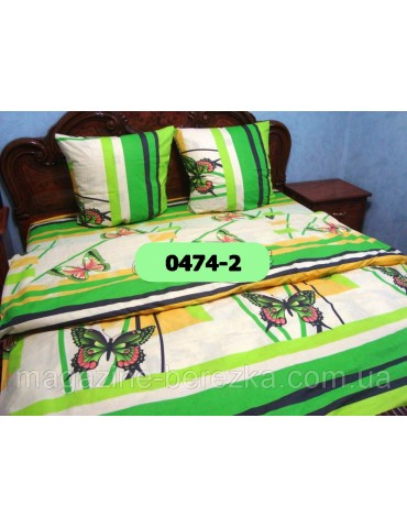 Евро-комплект постельного белья из бязи, Арт. 0474-2