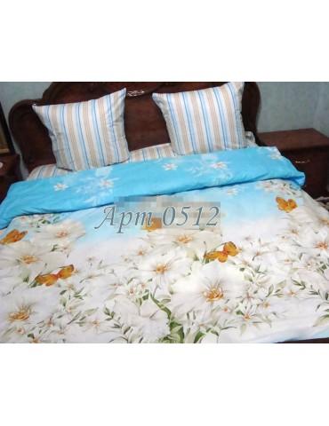 Евро-комплект постельного белья из бязи, Арт. 0512 (без компаньона)