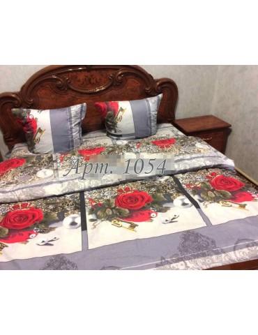 Евро-комплект постельного белья из бязи, Арт. 1054