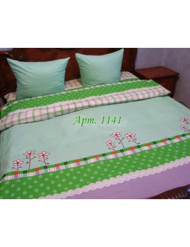 Евро-комплект постельного белья из бязи, Арт. 1141