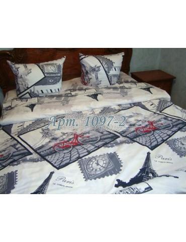 Евро-комплект постельного белья из бязи, Арт. 1097-2