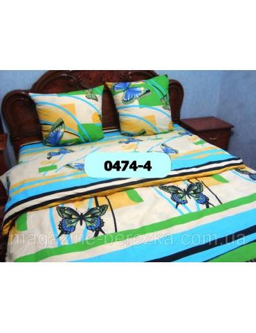 Евро-комплект постельного белья из бязи, Арт. 0474-4