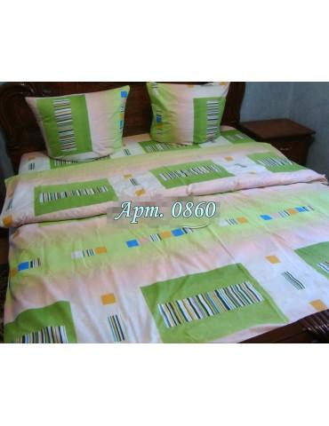 Евро-комплект постельного белья из бязи, Арт. 0860