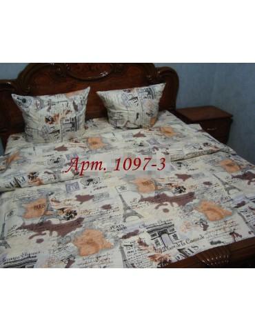 Евро-комплект постельного белья из бязи, Арт. 1097-3