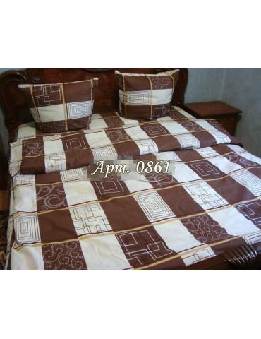 Евро-комплект постельного белья из бязи, Арт. 0861