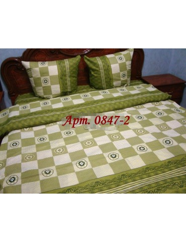 Евро-комплект постельного белья из бязи, Арт. 0847-2