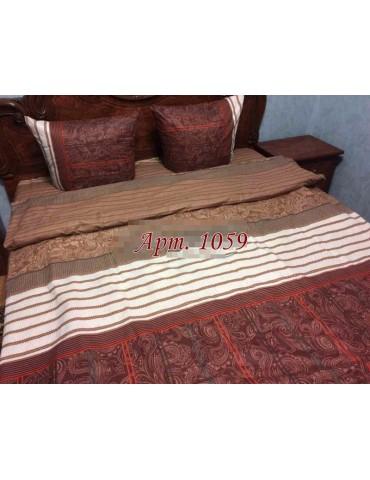 Евро-комплект постельного белья из бязи, Арт. 1059