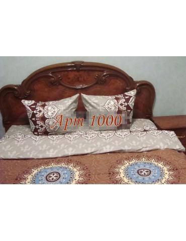 Евро-комплект постельного белья из бязи, Арт. 1000