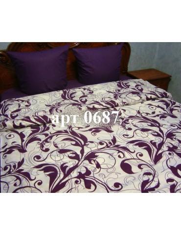 Евро-комплект постельного белья из бязи, Арт. 0687