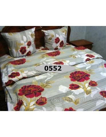 Евро-комплект постельного белья из бязи, Арт. 0552