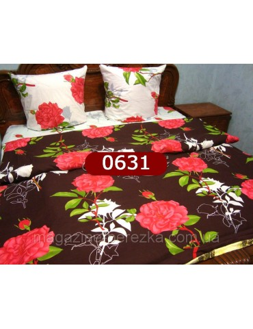 Евро-комплект постельного белья из бязи, Арт. 0631