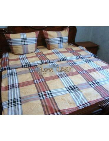 Евро-комплект постельного белья из бязи, Арт. 0863