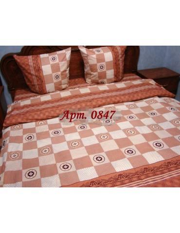 Комплект постельного БЯЗЬ оптом и в розницу, Шахматка коричневая 0847