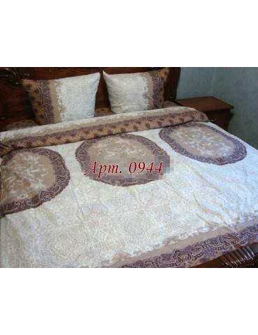 Постельное белье из бязи оптом и в розницу, бежево-коричневая Абстракция 0944