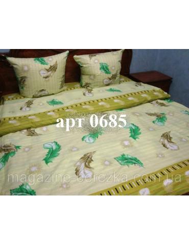 Комплект постельного БЯЗЬ оптом и в розницу, Перышки на оливковом фоне 0685