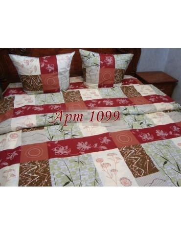 Комплект постельного БЯЗЬ оптом и в розницу, Растительная абстракция, бордо 1099