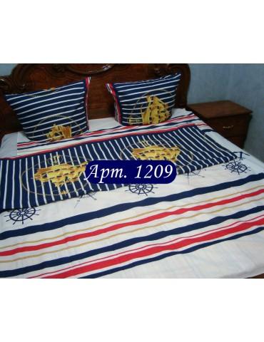Комплект постельного БЯЗЬ оптом и в розницу, Кораблик 1209