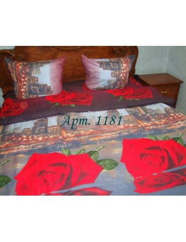 Комплект постельного БЯЗЬ оптом и в розницу, Город+красная роза 1181