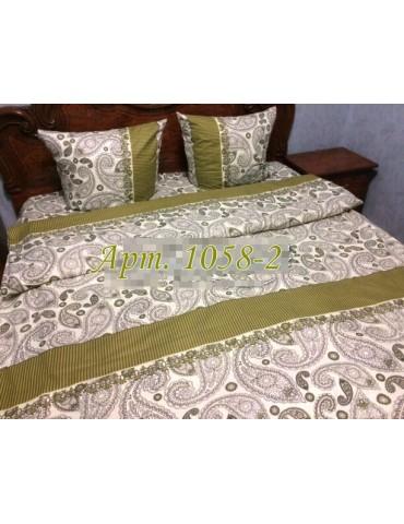 Комплект постельного БЯЗЬ оптом и в розницу, Восточные огурцы оливка 1058-2