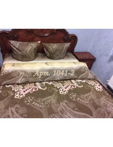 Комплект постельного БЯЗЬ оптом и в розницу, Турецкий огурец коричневый 1041-2