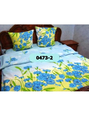 Комплект постельного БЯЗЬ оптом и в розницу, незабудки 0473-2