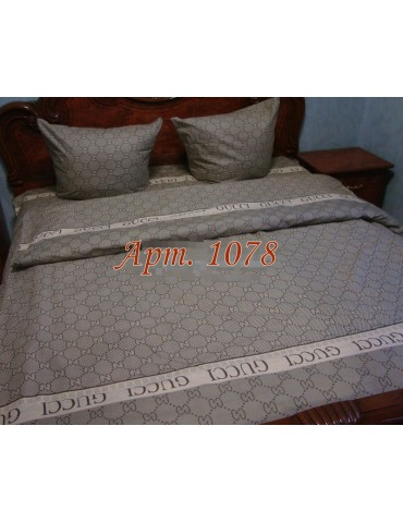 Комплект постельного БЯЗЬ оптом и в розницу, Орнамент Гуччи 1078