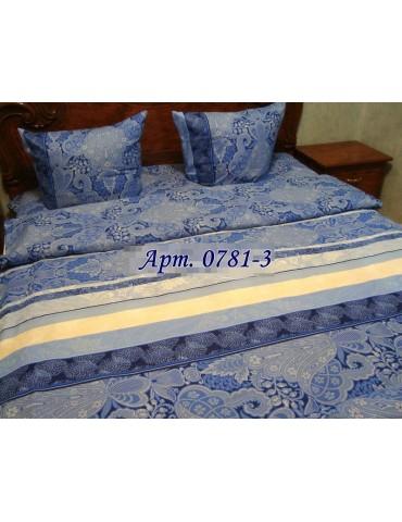 Комплект постельного БЯЗЬ оптом и в розницу, Синяя абстракция 0781-3