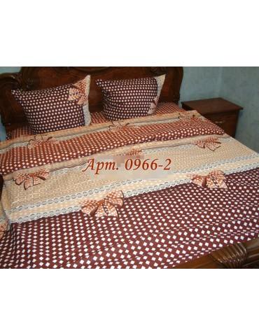 Комплект постельного БЯЗЬ оптом и в розницу, Бежевое с бантиками, 0966-2