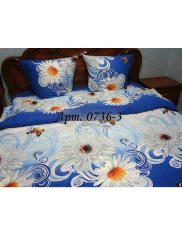 Семейный комплект постельного белья из бязи, Арт. 0736-3