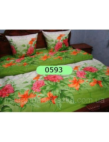 Семейный комплект постельного белья из бязи, Арт. 0593