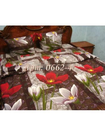 Семейный комплект постельного белья из бязи, Арт. 0662-4