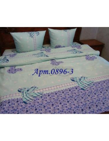 Семейный комплект постельного белья из бязи, Арт. 0896-3