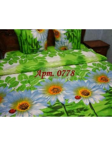Семейный комплект постельного белья из бязи, Арт. 0778