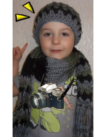 Комплект для девочки: шапка+шарфик в этническом стиле этно