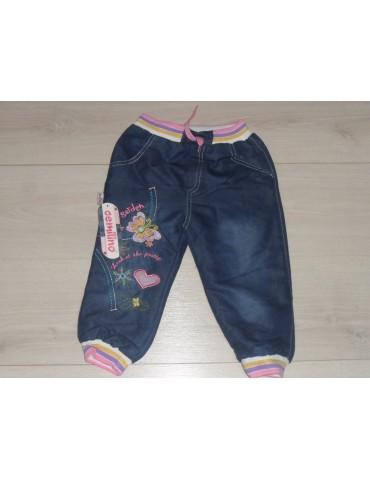 """Теплые джинсы на махре для девочки """"Бабочка"""" размеры 5,7 лет (маломерят)"""