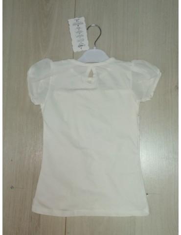 Школьная блузка с коротким рукавом, айвори р. 116-152