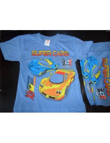 """Футболки для мальчиков """"Супер Тачки"""", размер 8 лет"""