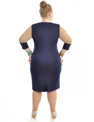 Платье батальное имитация запаха ДК-414