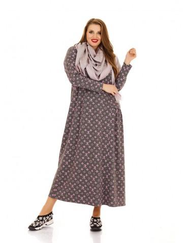 Повседневное платье Луи Вуитон, свободный крой ДК-1121