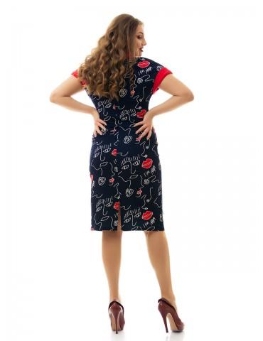 """Платье из стрейч-материала, """"Губки"""", короткий рукав ДК-866"""