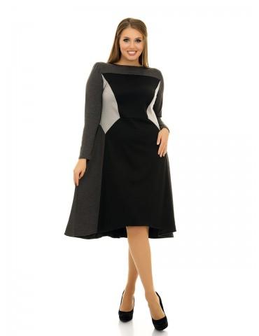 Платье свободного силуэта полу-клеш ДК-1054